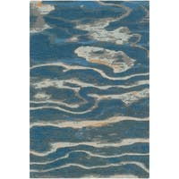 Hand-Tufted Lidia Wool Area Rug - 5' x 8'