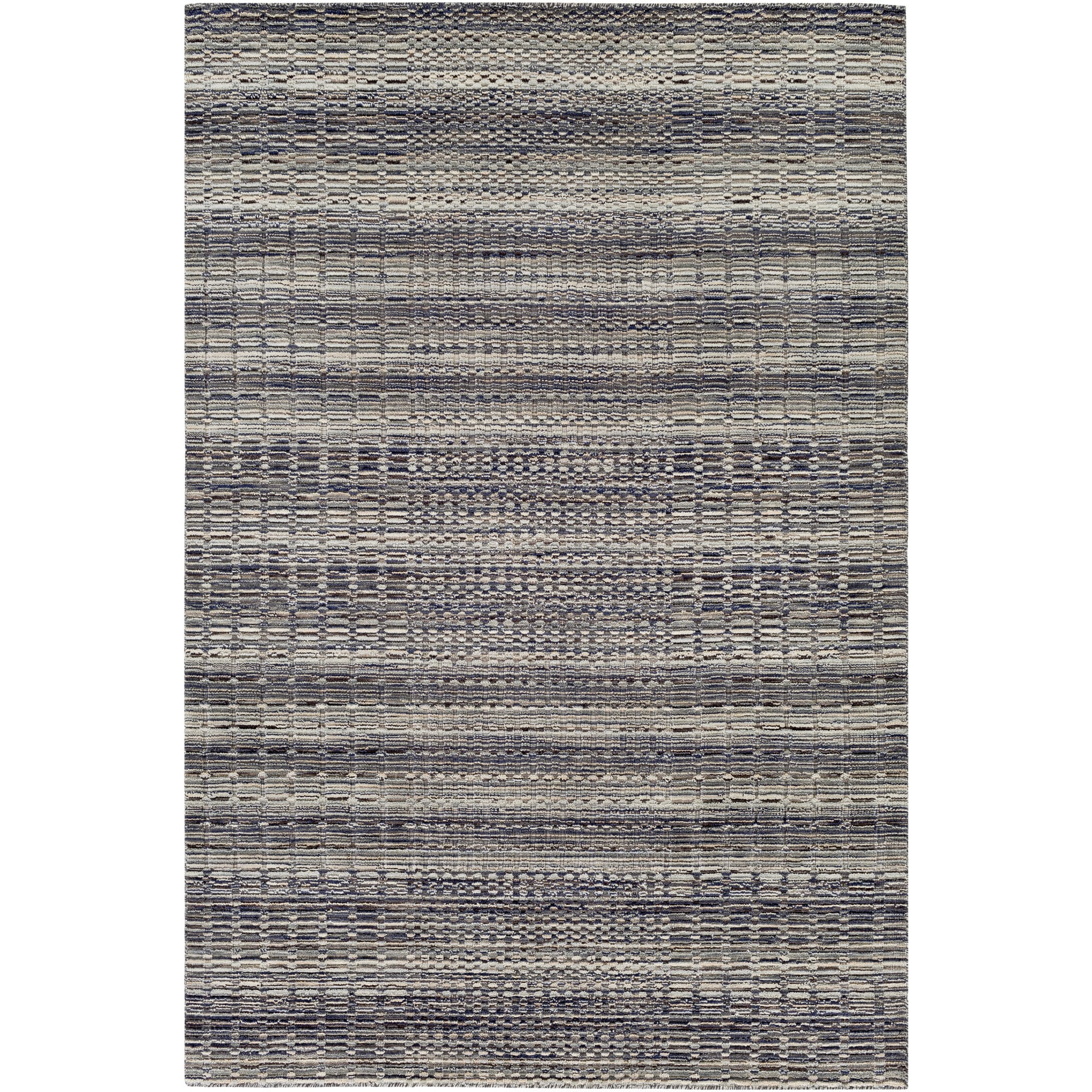 "Handmade Ankita Wool Rug (5' x 7'6"") (Khaki (Green)), Siz..."