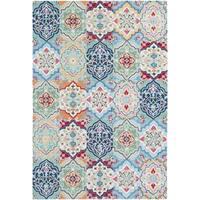 Hand-Hooked Saria Wool Area Rug (5' x 7'6)