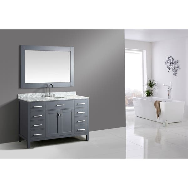 Gray 54 Inch Single Sink Vanity Set
