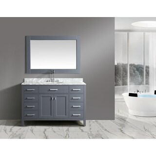 Design Element London Gray 54-inch Single-sink Vanity Set With Mirror