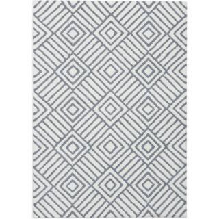 eCarpetGallery Plush Velours Grey/Ivory Microfiber Shag Rug (5'3 x 7'5) https://ak1.ostkcdn.com/images/products/15293816/P21761813.jpg?impolicy=medium
