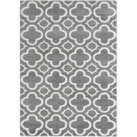 eCarpetGallery Plush Velours Grey Microfiber Shag Area Rug - 5'3 x 7'5
