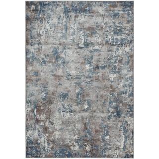 eCarpetGallery Ambrose Green/Grey Viscose Handmade Area Rug (5'3 x 7'8)