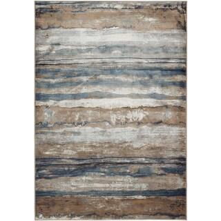 eCarpetGallery Brown/Ivory Viscose Handmade Rug (5'3 x 7'7)