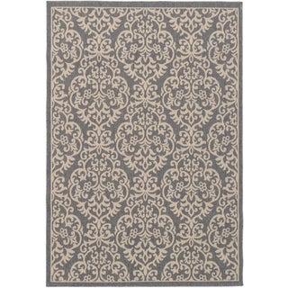 eCarpetGallery Verandah Grey/Ivory Handmade Indoor/Outdoor Rug - 5'2 x 7'6