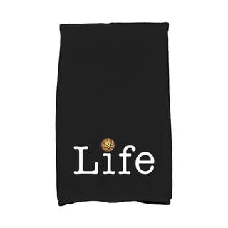 Life + Ball, Word Print Hand Towel