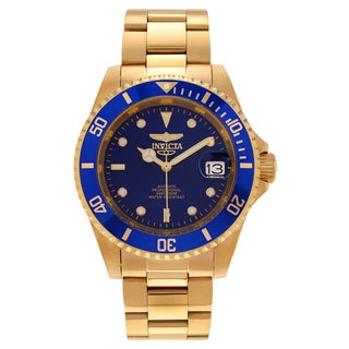 Invicta Men's 8930OB 'Pro Diver' Blemished Goldtone Stainless Steel Blue Dial Link Bracelet Watch