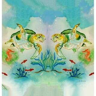 Betsy's Sea Turtle Shower Curtain