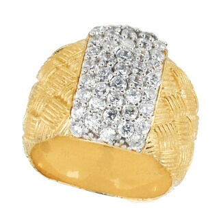 Michael Valitutti Sterling Silver Round Cubic Zirconia Pave Ring