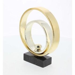 Beautiful Design Metal Marble Sculpture, Gold & Silver