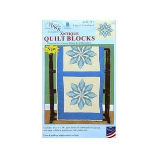 "Jack Dempsey Quilt Blocks 18"" FloralPinwheel 6pc"