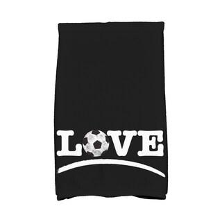 Love Soccer,Word Print Hand Towel