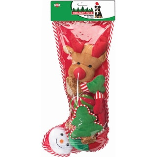 Holiday Dog Toy Stocking 8pc