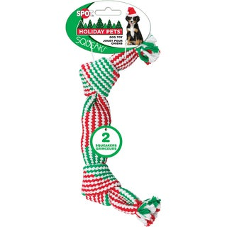 "Holiday Super Squeaker Rope Dog Toy 14""-"