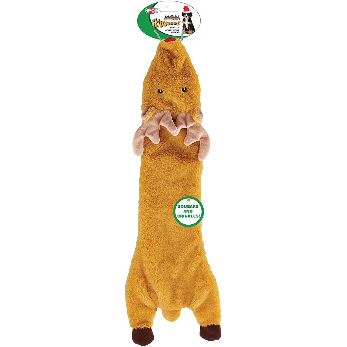 Ethical Pets Holiday Skinneeez Crinkler Reindeer Dog Toy ...