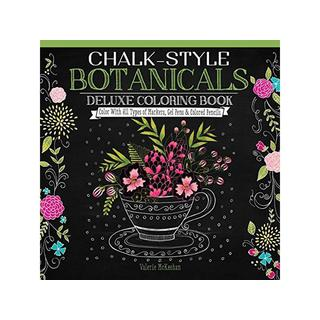 Design Originals Chalk-Style Botanicals ColoringBk