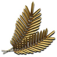 Golden Palms Metal Wall Art by Metal Perspectives