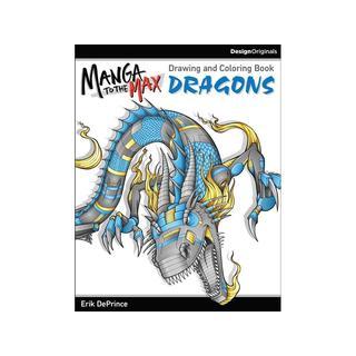 Design Originals Manga/Max Dragons Coloring Bk
