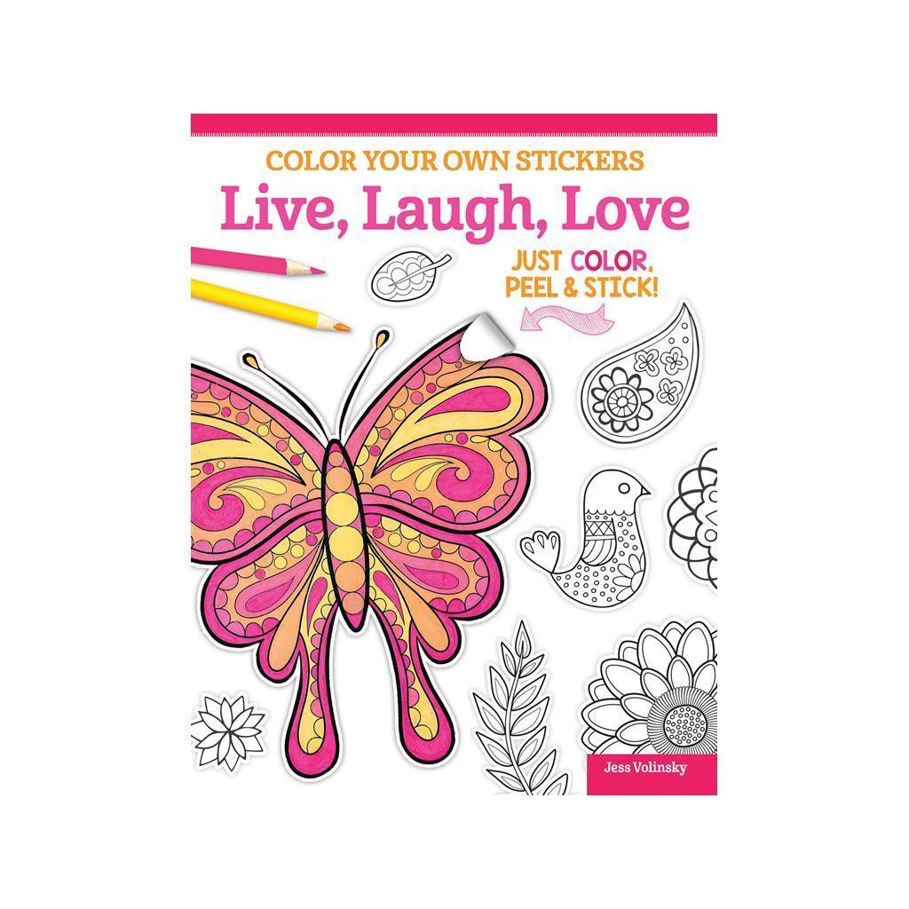 Design Originals Color Your/Sticker Live,Laugh Bk (Sewing...