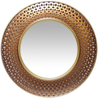 Infinity Instruments Bolly Coppertone Resin 15.75-inch Round Wall Mirror