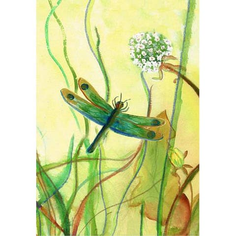 Betsy Drake Multicolor Synthetic Fiber Dragonfly Flag