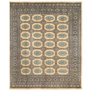 Herat Oriental Pakistani Hand-knotted Bokhara Wool Rug (6'6 x 7'10)