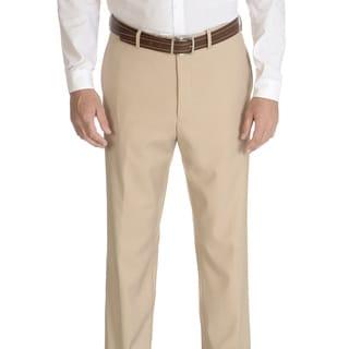 Caravelli Slim Men's Beige Flat Front Pants