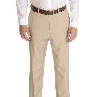 Caravelli Slim Men's Beige Flat Front Pants (More options available)