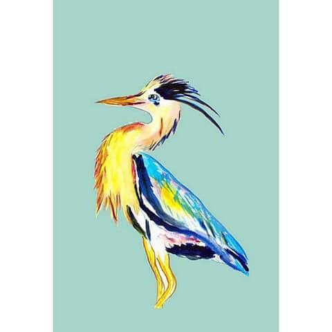 Betsy Drake 28x40 Vertical Blue Heron Flag