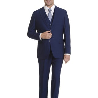 Caravelli Men's Cobalt 2-button Vested Suit