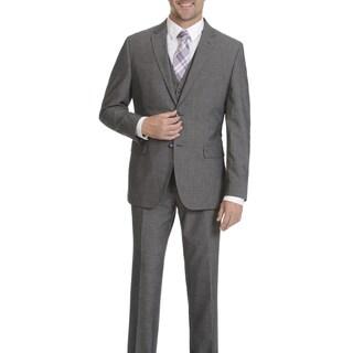Caravelli Men's 2-button Grey Vested Suit