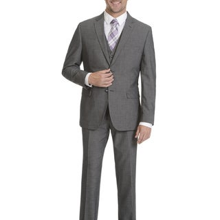 Caravelli Men's 2-button Grey Vested Suit