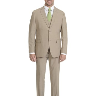 Caravelli Men's Tan 2-button Vested Suit (More options available)