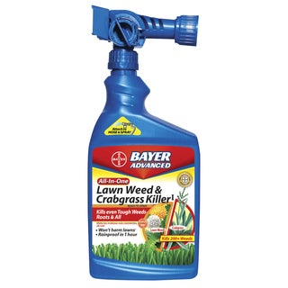 Bayer Advanced All-in-One Lawn Weed and Crabgrass Killer Ready-To-Spray, 32-Ounce