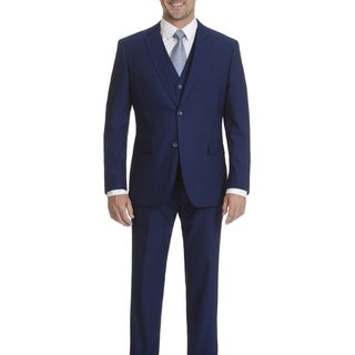 Caravelli Men's Cobalt 2-button Vested Slim Suit