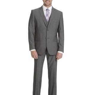 Caravelli Men's Grey 2-button Vested Slim-fit Suit
