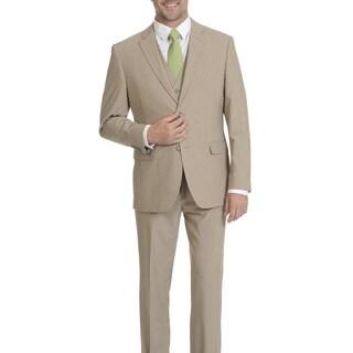 Caravelli Men's 2-button Tan Vested Slim Fit Suit