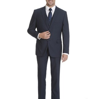 Caravelli Men's Navy 2-button Vested Slim-fit Suit