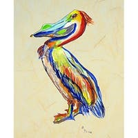 Betsy Drake Sylvester Pelican B Multicolored 28-inch x 40-inch Flag