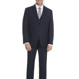 Caravelli Collezione Men's Superior 150 Navy 3-piece Vested Suit