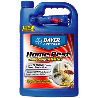 Bayer Advanced Home Pest Plus Germ Killer Indoor and Outdoor Insect Killer Ready-To-Use, 1-Gallon