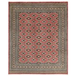 Herat Oriental Pakistani Hand-knotted Bokhara Wool Rug (6'7 x 7'11)