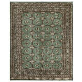 Herat Oriental Pakistani Hand-knotted Bokhara Wool Rug (6'7 x 8'1)