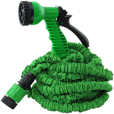 TrailWorthy Ruff and Ready Green Plastic Scrunchie Hose and Sprayer