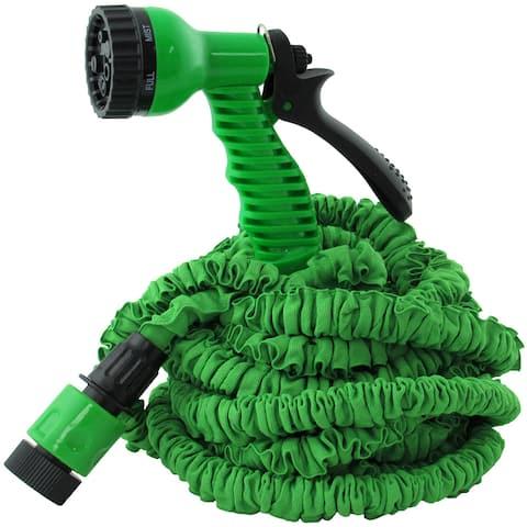 TrailWorthy Ruff and Ready Green Plastic Scrunchie Hose and Sprayer