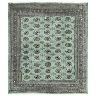 Handmade Herat Oriental Pakistani Bokhara Wool Rug (Pakistan) - 6'7 x 7'6