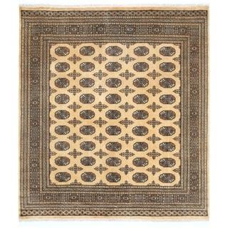 Herat Oriental Pakistani Hand-knotted Bokhara Wool Rug (6'7 x 7'2)
