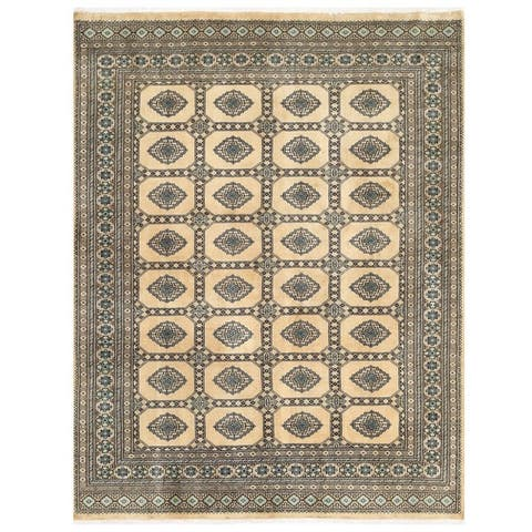 Handmade One-of-a-Kind Bokhara Wool Rug (Pakistan) - 6'7 x 8'3