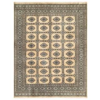 Herat Oriental Pakistani Hand-knotted Bokhara Wool Rug (6'7 x 8'3)